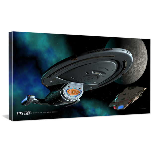Star Trek: Voyager Ships of the Line Homeward Bound Traditional Canvas