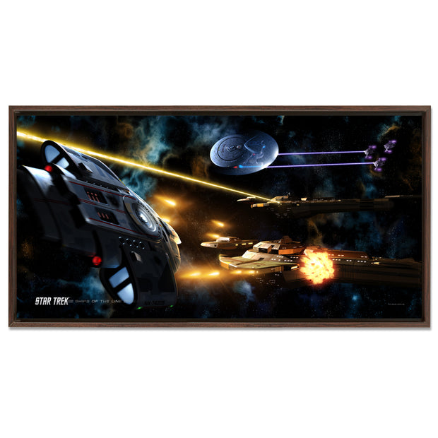 Star Trek: Deep Space Nine Ships of the Line Fortune Favors the Bold Floating Frame Wrapped Canvas