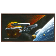 Star Trek: The Original Series Ships of the Line Oceans of Blue and Seas of Fire Floating Frame Wrapped Canvas