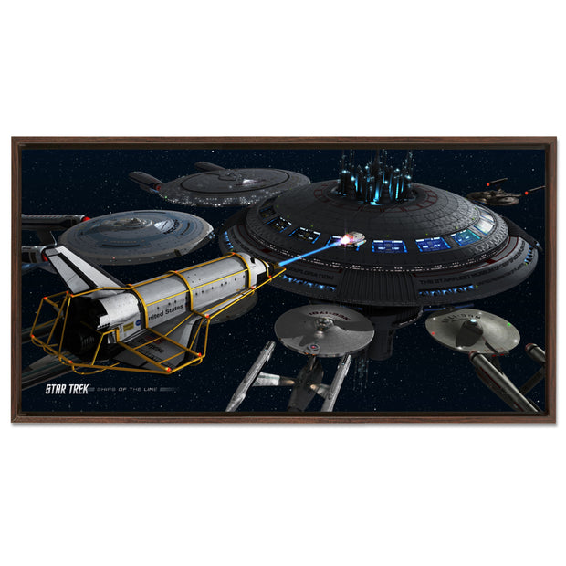 Star Trek Ships of the Line Acquisition Floating Frame Wrapped Canvas