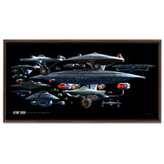 Star Trek Ships of the Line Starfleet Collage Floating Frame Wrapped Canvas