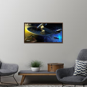 Star Trek: The Next Generation Ships of the Line Yesterday's Enterprise Floating Frame Wrapped Canvas