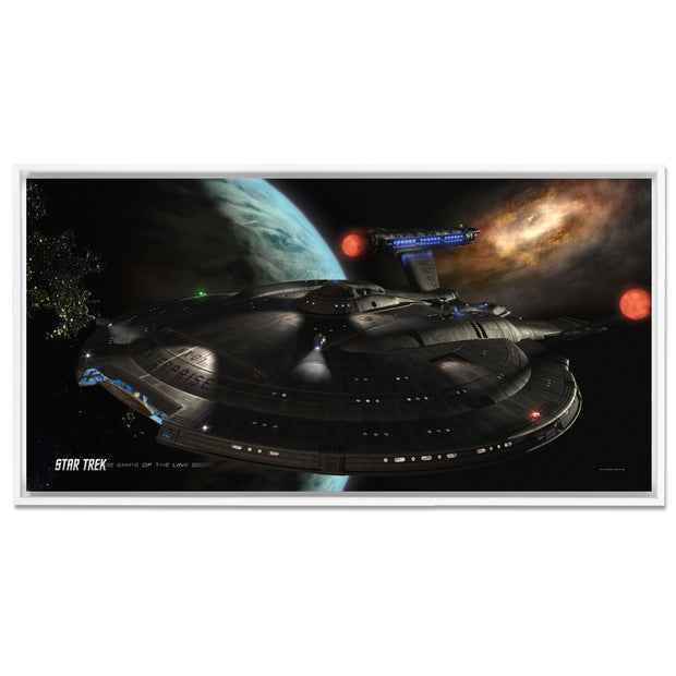 Star Trek: Enterprise Ships of the Line Distant Cousins Floating Frame Wrapped Canvas