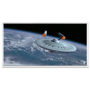 Star Trek: The Original Series Ships of the Line Assignment Earth Floating Frame Wrapped Canvas
