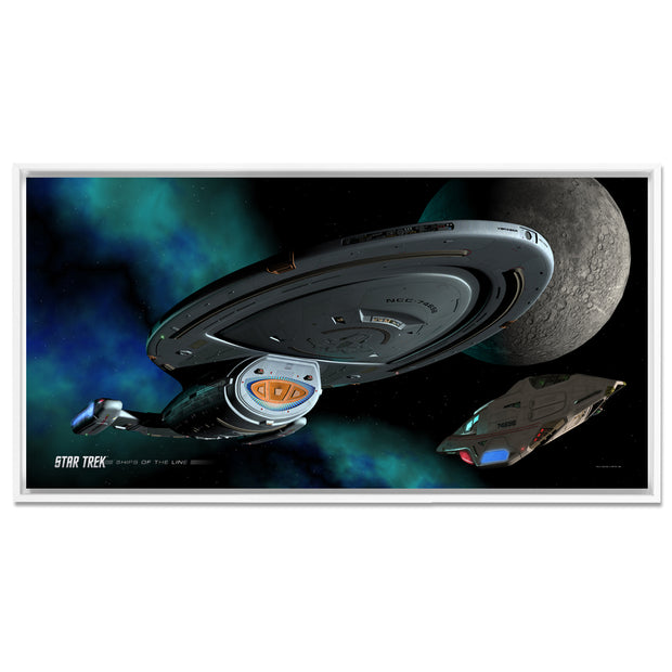 Star Trek: Voyager Ships of the Line Homeward Bound Floating Frame Wrapped Canvas