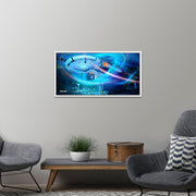 Star Trek: Enterprise Ships of the Line Wind Tunnel Floating Frame Wrapped Canvas