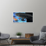 Star Trek: The Next Generation Ships of the Line Quantum Mystery Floating Frame Wrapped Canvas