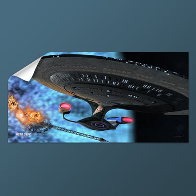 Star Trek: The Next Generation Ships of the Line Quantum Mystery Removable Wall Peel