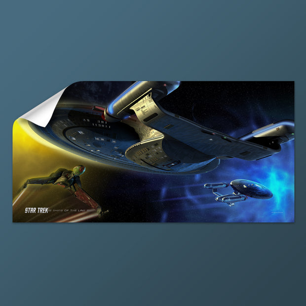 Star Trek: The Next Generation Ships of the Line Yesterday's Enterprise Removable Wall Peel