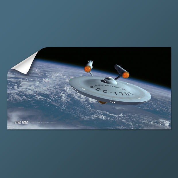Star Trek: The Original Series Ships of the Line Assignment Earth Removable Wall Peel