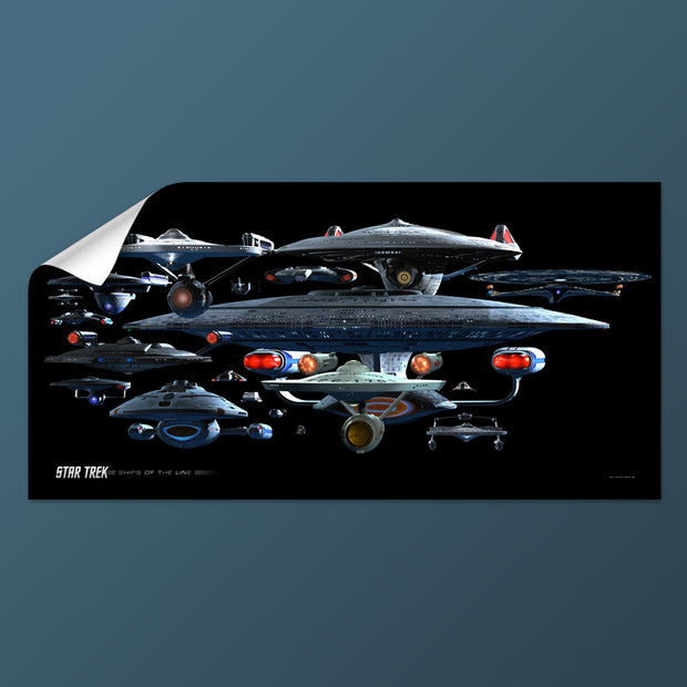 Star Trek Ships of the Line Starfleet Collage Removable Wall Peel