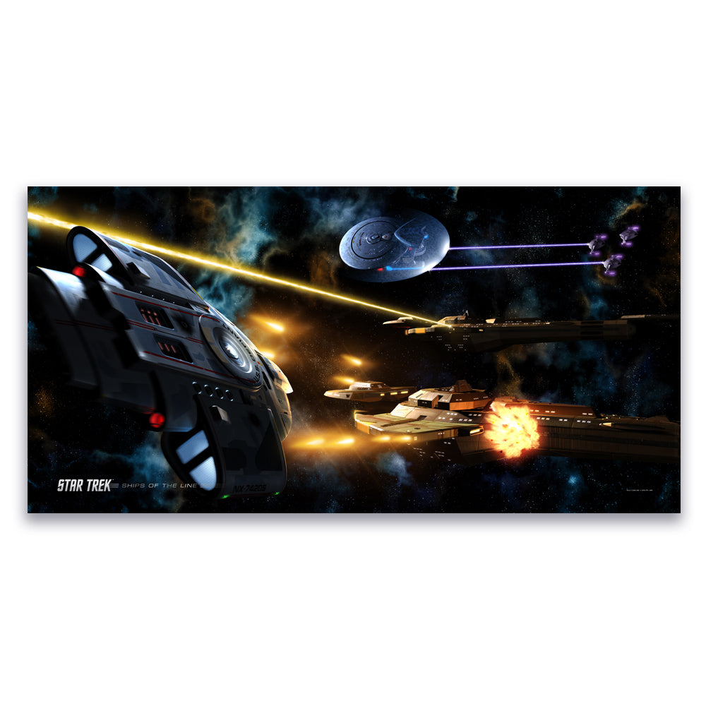 Star Trek A3 exclusive Poster captains n ships