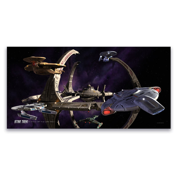 Star Trek: Deep Space 9 Ships of the Line Wheel in the Sky Satin Poster