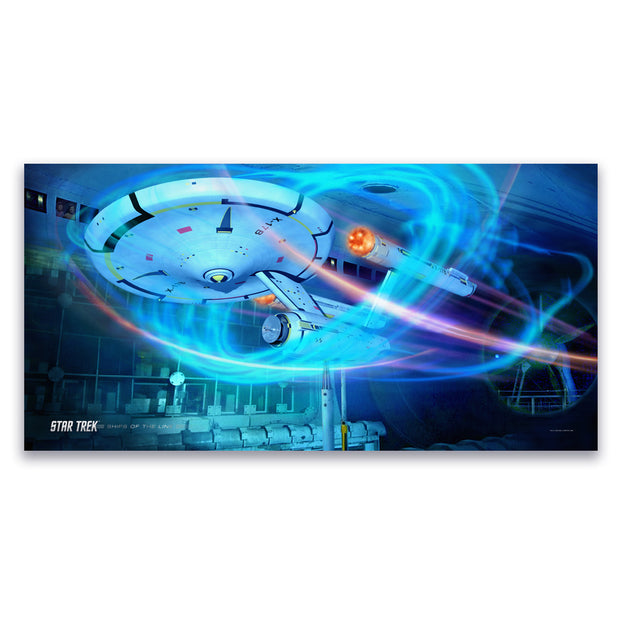 Star Trek: Enterprise Ships of the Line Wind Tunnel Satin Poster