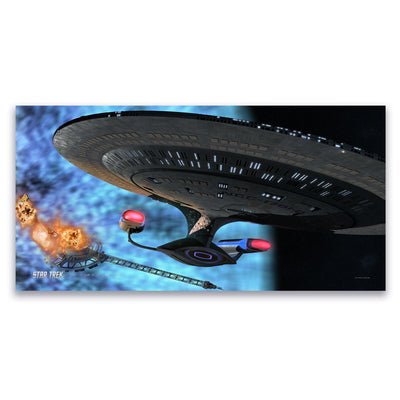 Star Trek: The Next Generation Ships of the Line Quantum Mystery Satin Poster