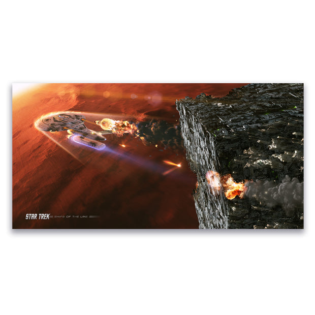 Star Trek: The Next Generation hips of the Line Terminal Descent Satin Poster