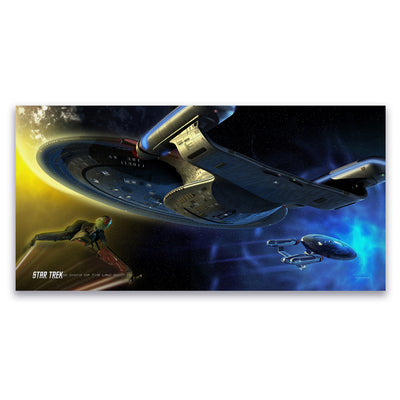 Star Trek: The Next Generation Ships of the Line Yesterday's Enterprise Satin Poster