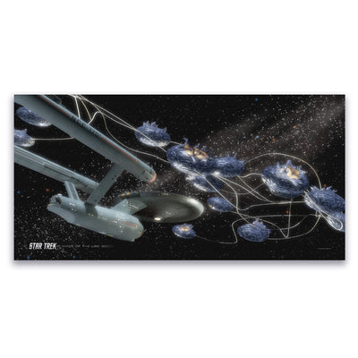 Star Trek: The Original Series Ships of the Line Beyond the Farthest Star Satin Poster