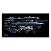 Star Trek Ships of the Line Starfleet Collage Satin Poster