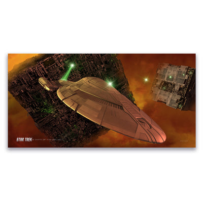 Star Trek: Voyager Ships of the Line Armored Voyager Satin Poster