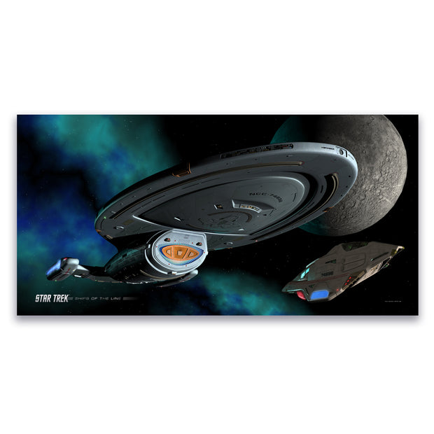 Star Trek: Voyager Ships of the Line Homeward Bound Satin Poster