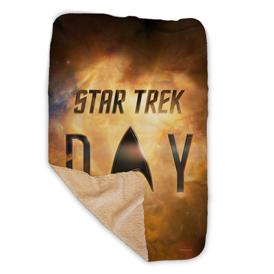 Star Trek Day Logo Sherpa Blanket