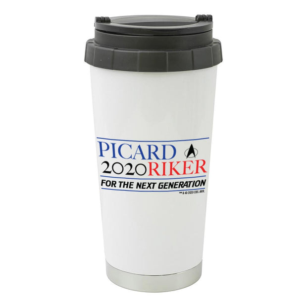 Star Trek: The Next Generation Picard Riker 2020 16 oz Stainless Steel Thermal Travel Mug