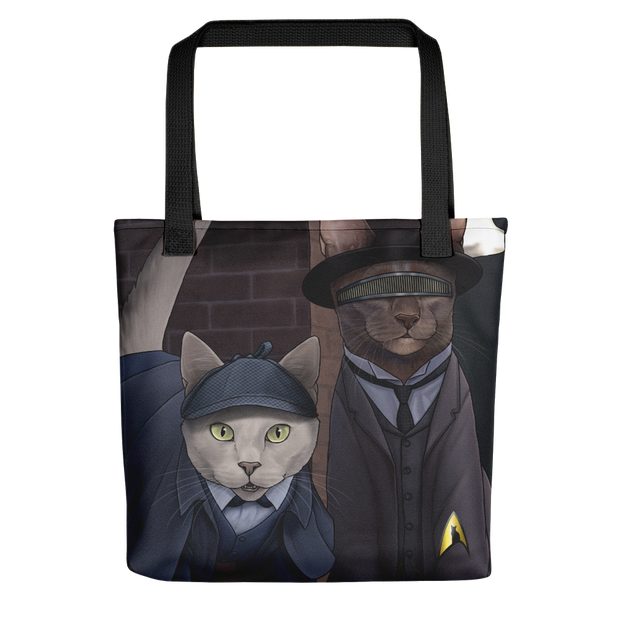 Star Trek: The Next Generation Detective Cats  Premium Tote Bag