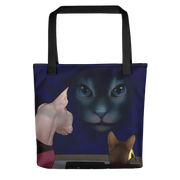 Star Trek: The Next Generation Hologram Cat Premium Tote Bag