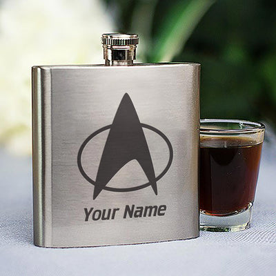 Star Trek: The Next Generation Delta Personalized Stainless Steel Flask