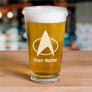 Star Trek: The Next Generation Delta Personalized Laser Engraved Pilsner Glass