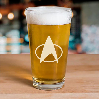 Star Trek: The Next Generation Delta Laser Engraved Pilsner Glass