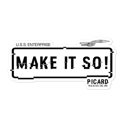 Star Trek: The Next Generation Make It So! Die Cut Sticker