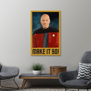 Star Trek: The Next Generation Make It So Portrait Gallery Wrapped Canv