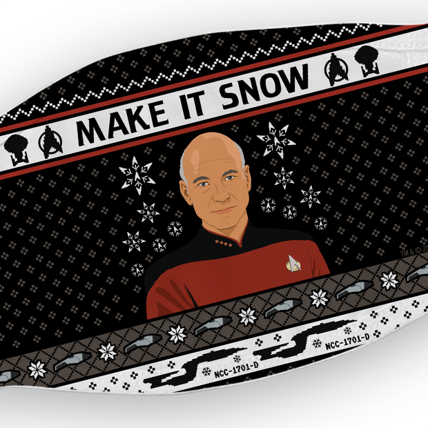 Star Trek: The Next Generation Make It Snow Washable Face Mask
