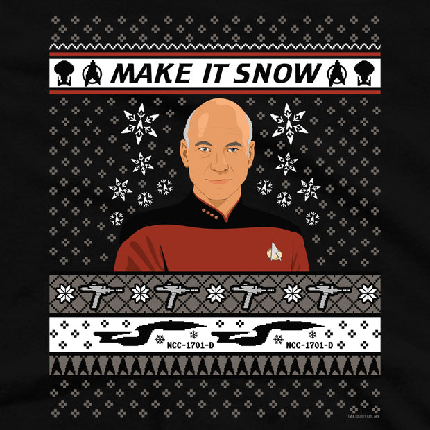 Star Trek: The Next Generation Make It SnowFleece Crewneck Sweatshirt