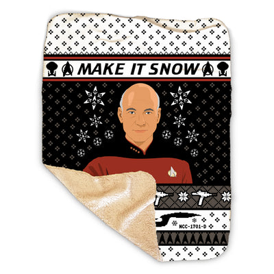 Star Trek: The Next Generation Make It Snow Sherpa Blanket