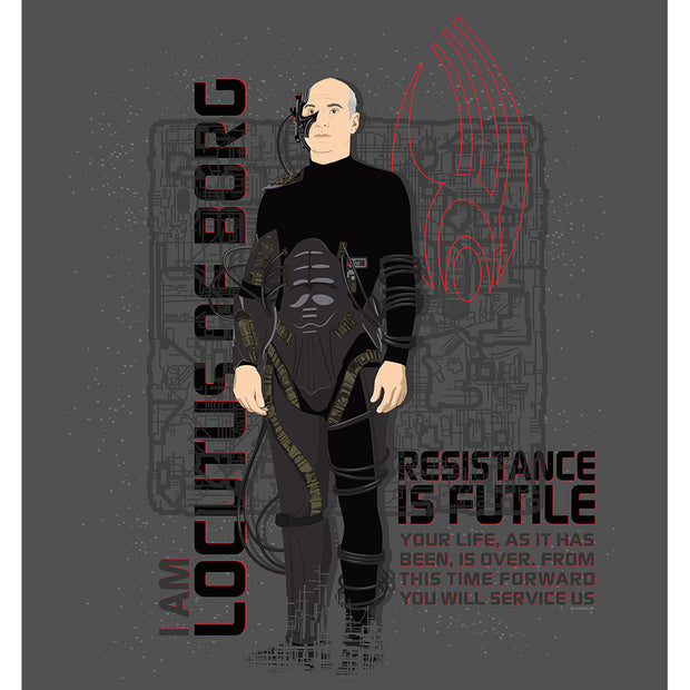 Star Trek: The Next Generation Picard Locutus Borg Satin Poster