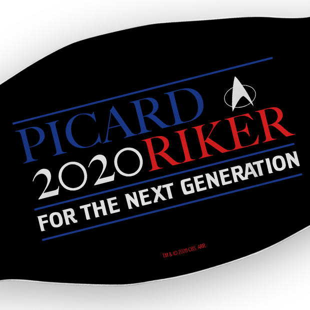 Star Trek: The Next Generation Picard Riker 2020 Face Mask