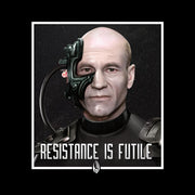 Star Trek: The Next Generation Picard Resistance is Futile Black Mug