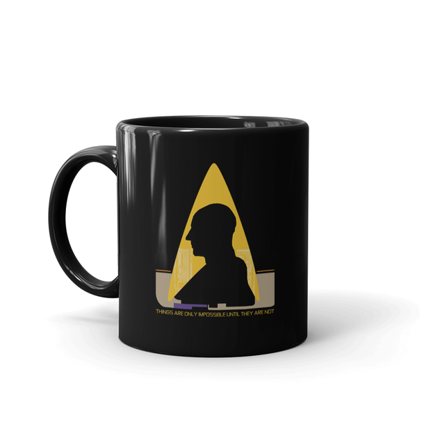 Star Trek: The Next Generation Picard Silhouette Impossible White Mug