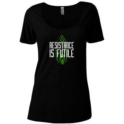 Star Trek: The Next Generation Resistance is Futile Women's Relaxed Scoop Neck T-Shirt