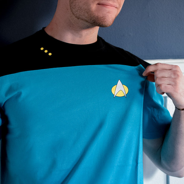 Star Trek: The Next Generation Science Uniform T-Shirt