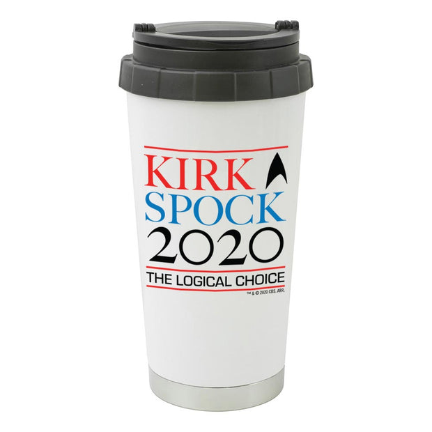Star Trek: The Original Series Kirk & Spock 2020 16 oz Stainless Steel Thermal Travel Mug