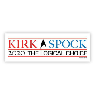 Star Trek: The Original Series Kirk & Spock 2020 Bumper Sticker