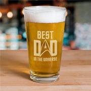 Star Trek: The Original Series Best Dad In The Universe Laser Engraved Pilsner Glass