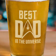 Star Trek: The Original Series Best Dad In The Universe Laser Engraved Pint Glass
