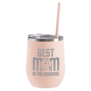 Star Trek: The Original Series Best Mom in the Universe Laser Engraved Wine Tumbler with Straw