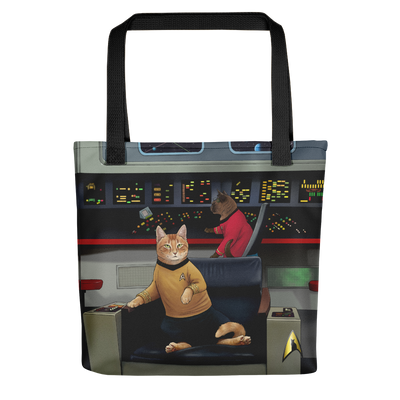 Star Trek: The Original Series Kirk's Chair Cat Premium Tote Bag