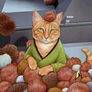 Star Trek: The Original Series Tribble Cat Premium Tote Bag